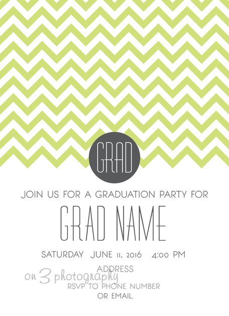 Graudation Invitations as adorable invitation template